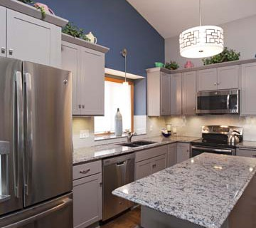 Project Feature: Greige Painted Cabinets | Apple Valley ...
