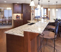 Burnsville | Cherry Truffle Cabinets