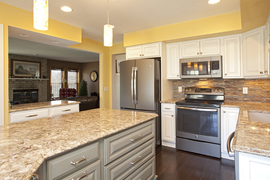 real home feature two toned apple valley kitchen remodel