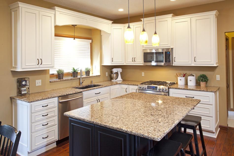 Real Home Feature: Elegant Cream & Black Kitchen Remodel ...