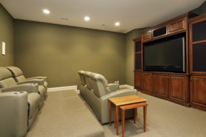 Theater style basement