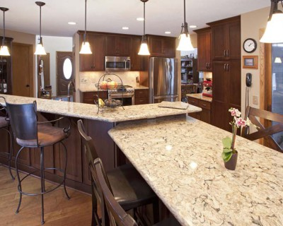Burnsville Kitchen Remodel Cherry Wood Cabinetry
