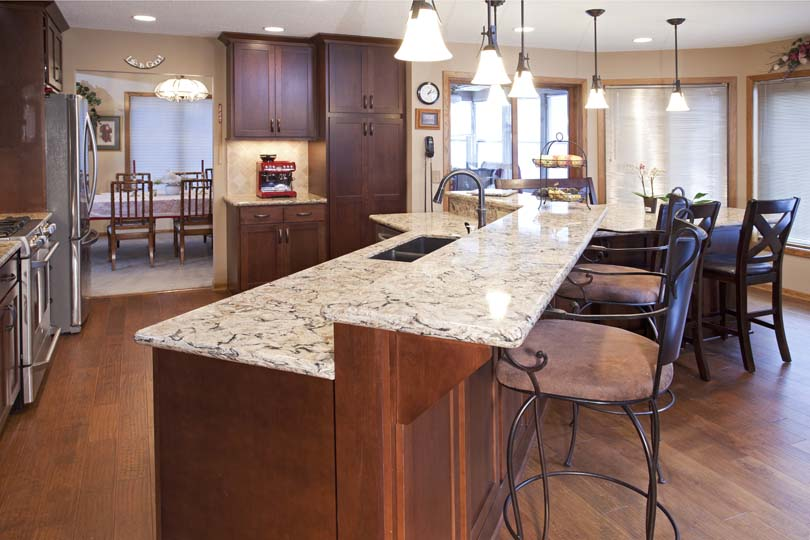 Burnsville Kitchen Remodel: Cherry Wood Cabinetry ...