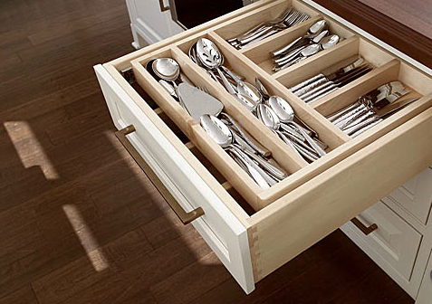 Organizational Cabinet Storage from Showplace Wood Cabinetry - Available at The Cabinet Store