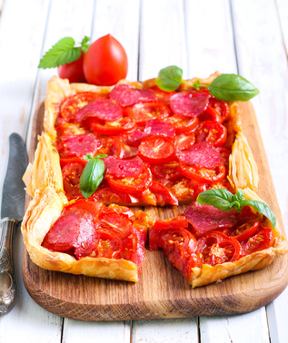 Minnesota Twin Cities Summertime Tomato Tart Recipe