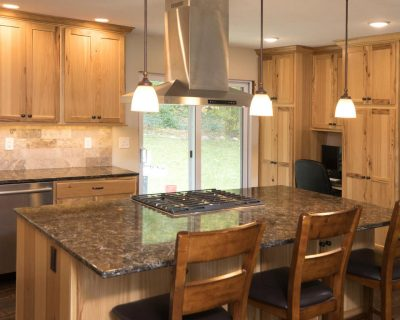 Remodeled kitchen with island seating in Apple Valley MN