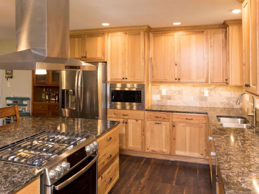 Apple Valley Kitchen with a built-in range in the island