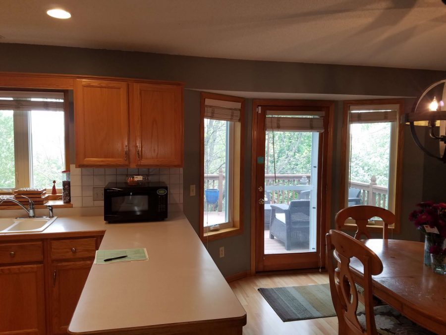 Before photo of kitchen remodel