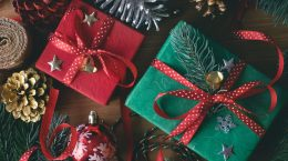 Red and Green Wrapped Presents