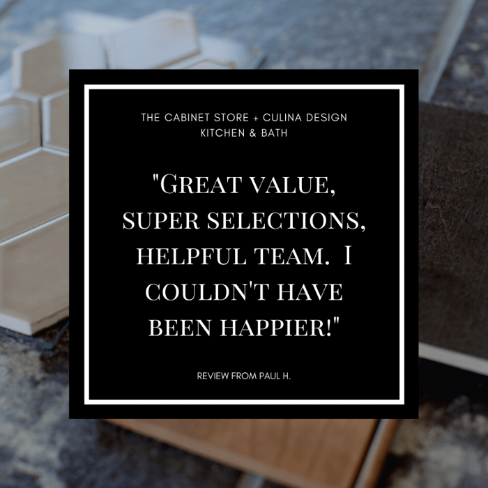 The Cabinet Store Customer Review